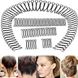 6Pcs U Shape Hair Finishing Fixer Comb, Invisible Hair Holder, U Pin Hair Clips for Thick Hair, Bobby Pins, Hair Updo Accessories for Small Broken Hair, Hair Styling Tools for Girls and Women