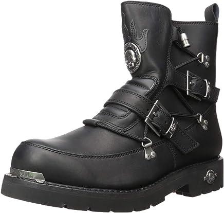 Harley Davidson Biker Boots D94167 Distortion Engineer Boots Black Black, Size:42