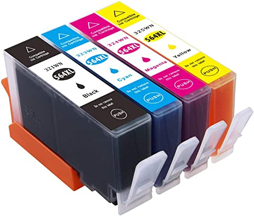 Compatible HP 564xl Ink Cartridges, 564 xl Ink Replacement for HP Photosmart 5520 6520 7520 5510 6510 7510 7525 B8550...