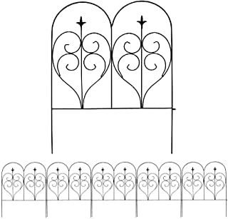 MTB Decorative Garden Border Fence Panel 32 in x 24 in, Pack of 5, Totally 10 ft, Decorative Wire Fencing Garden Border Edging Garden Fence Animal Barrier