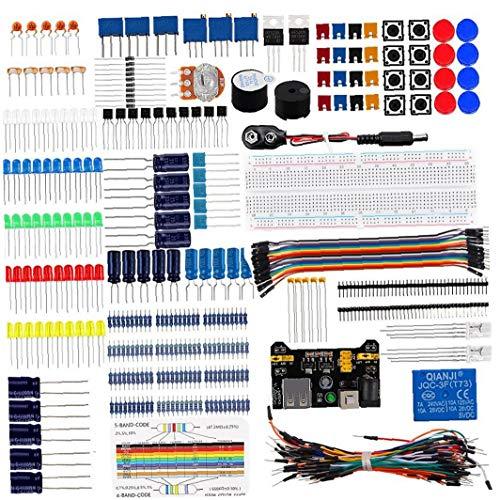 Elektronikprojekte Starter-Kit mit Sensoren lötfreie Steckplatine Lernkomponenten Kit Entwicklungsplatine für Arduino Nano