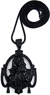 Hip Hop Jewels Black Iced Out Zig Zag Wiz Khalifa Music Pendant & 36