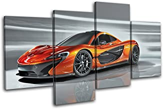Bold Bloc Design - Mclaren P1 Exotic Supercar Cars 200x113cm Multi Canvas Art Print Box Framed Picture Wall Hanging - Hand...