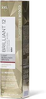Ion 6RV Light Burgundy Brown Permanent Gloss Hair Color 6RV Light Burgundy Brown