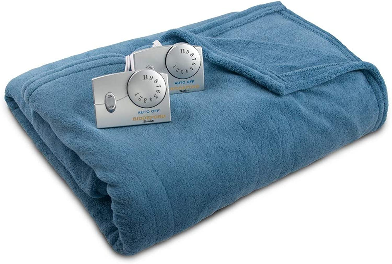 Biddeford Blankets Solid Microplush Electric Blanket - bluee Twin
