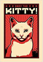 CafePress Obey The Kitty! White Cat Wall Art Poster