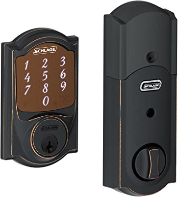 Schlage Sense Smart Deadbolt Lock With Camelot Trim (Aged Bronze)
