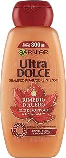 Garnier Ultra Dolce Shampoo Olio di Mandorle e Linfa d'Acero, per Capelli Sciupati e Danneggiati, 300ml