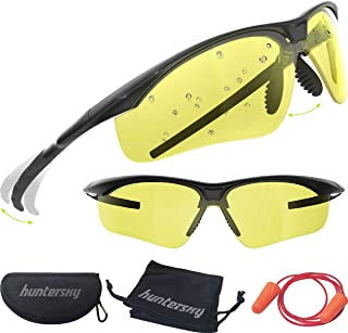 HUNTERSKY Tactical Shooting Glasses Military Grade with Ballistic Impact Protection, Superior Clarity