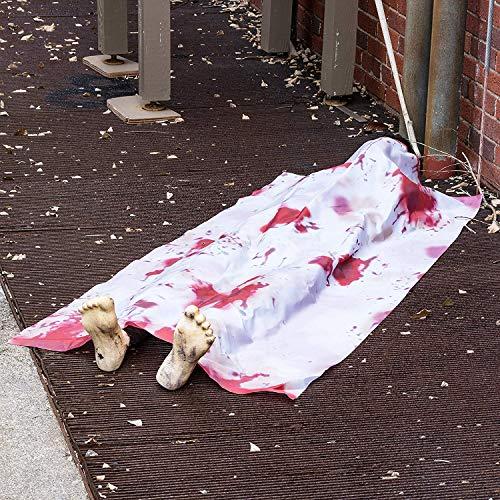 PREXTEX Cadáver Que vuelve de la Tumba de 152 cm de Largo de Halloween para la decoración más Espeluznante de casa embrujada Accesorios Decorativos de Halloween