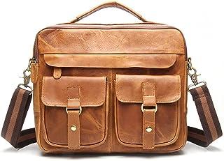 Men's Accessories New Men's Business Messenger Bag Satchel Shoulder Crossbody Sling Working Bag Briefcase Tote Bag for iPad Mini Phone Power Bank Outdoor Recreation (Color : Yellow)