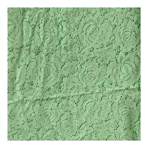 Cjcaijun Tridimensional del bordado de tela, malla de hilo de bordar la tela, el vestido, vestido de novia, 5yards bordado de boda del cordón de la tela