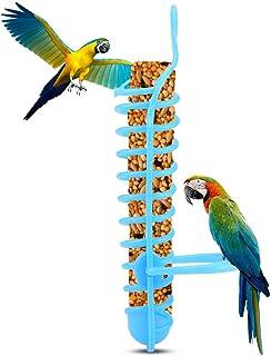 GOTOTOP Parrots Feeder Basket Hollow Basket Food Fruit Feeding Perch Stand Hanging Fruit Vegetable Millet Container Birds ...