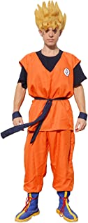 Men's Goku Cosplay Costume with Boot Covers