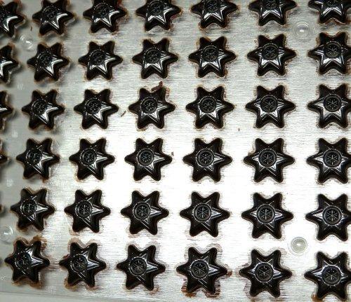 42 Stern Hohlkörper Zartbitter für Pralinen -