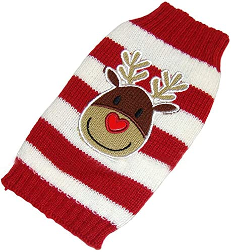 high quality Cute Reindeer popular Pet Dog Christmas Knitted Sweater, Puppy Dog Cat Winter Sweatshirt Clothes, popular Warm Knitwear Dog Reindeer Holiday Pet Clothes Sweater for Dogs Puppy Kitten Cats outlet sale