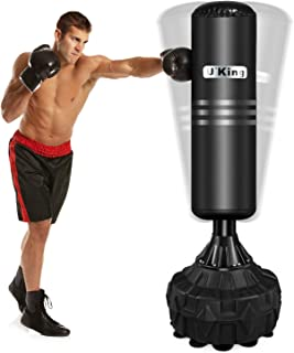 U'King Adult & Kids Freestanding Punching Bag for Heavy Boxing Training with Suction Cup Rubber Base - Free Stand Kickboxing Bags Kick Punch Bag