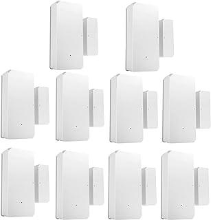 Sazoley 10PCS DW2-RF-433MHZ Sensor Door Window Alarm Sensor RF 433Mhz Wireless Automation Anti-Theft Alarm Compatible With...