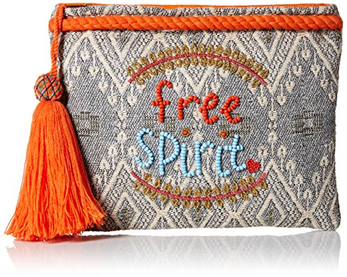 'ale by alessandra Women's Free Spirit Beaded Clutch with Tassel Accent, multi/color, One Size