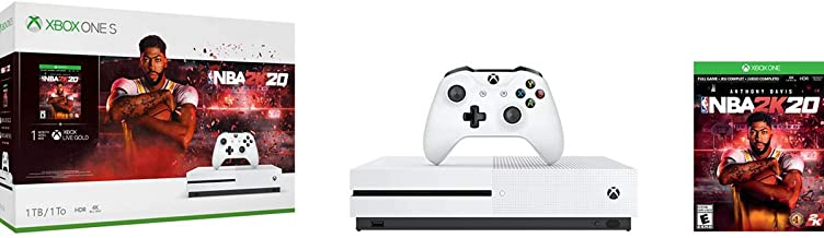 Xbox One S 1TB Console - NBA 2K20 Bundle (Renewed)