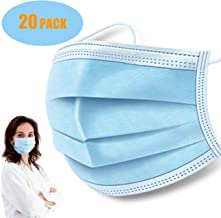 20Pcs Disposable Face Cover J2CC 3-Ply Mouth Cover,Paper Towels FONTAR