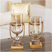 Flower Bottle Clear Heavy Glass Flower Vase Decoration Home Wedding Decor New (Set of 2 Pieces)