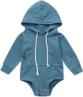 Recién Nacido bebé Monos Ropa de Dormir,Unisex bebé Mameluco Mono con Capucha de Manga Larga Pijamas Trajes por Venmo