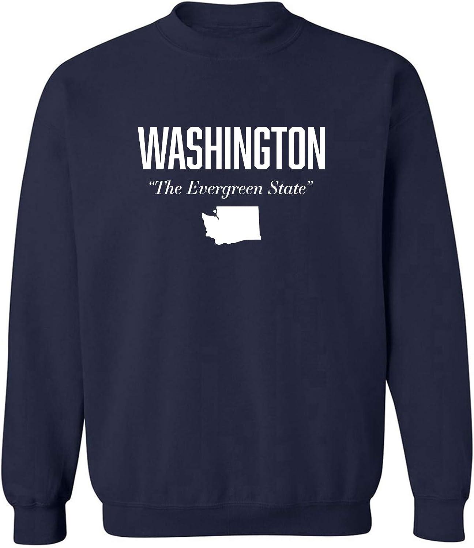 Washington The Evergreen State Crewneck Sweatshirt