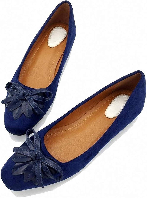 August Jim Women's Flats shoes, Slip-On Bowtie Office shoes Ballet Flats