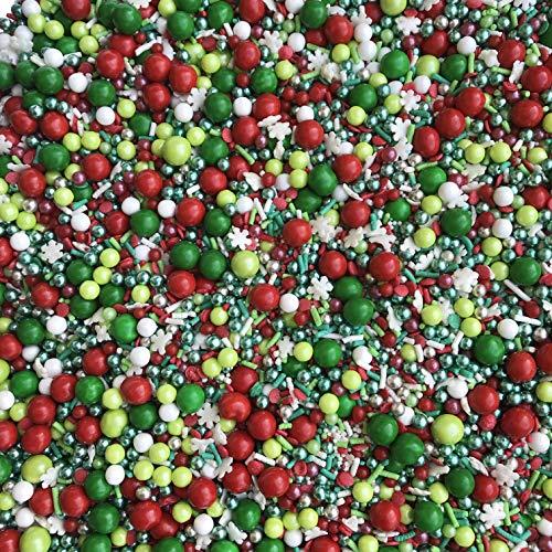 Manvscakes | Sprinkles | Christmas sprinkles | Cake sprinkles | Cookie sprinkles | 4 ounce (Red, green, white)