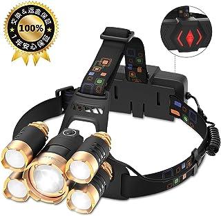 LOFTER 超強力 登山 ヘッドライト 電池 ヘッドライト軽量 USB 充電式 ヘッドランプ LED ヘッドライト アウトドア 防水 防災用品 ヘルメット用 ヘッドライト高輝度 ズーム機能付 角度調節可 18650電池付属 1年安心保証