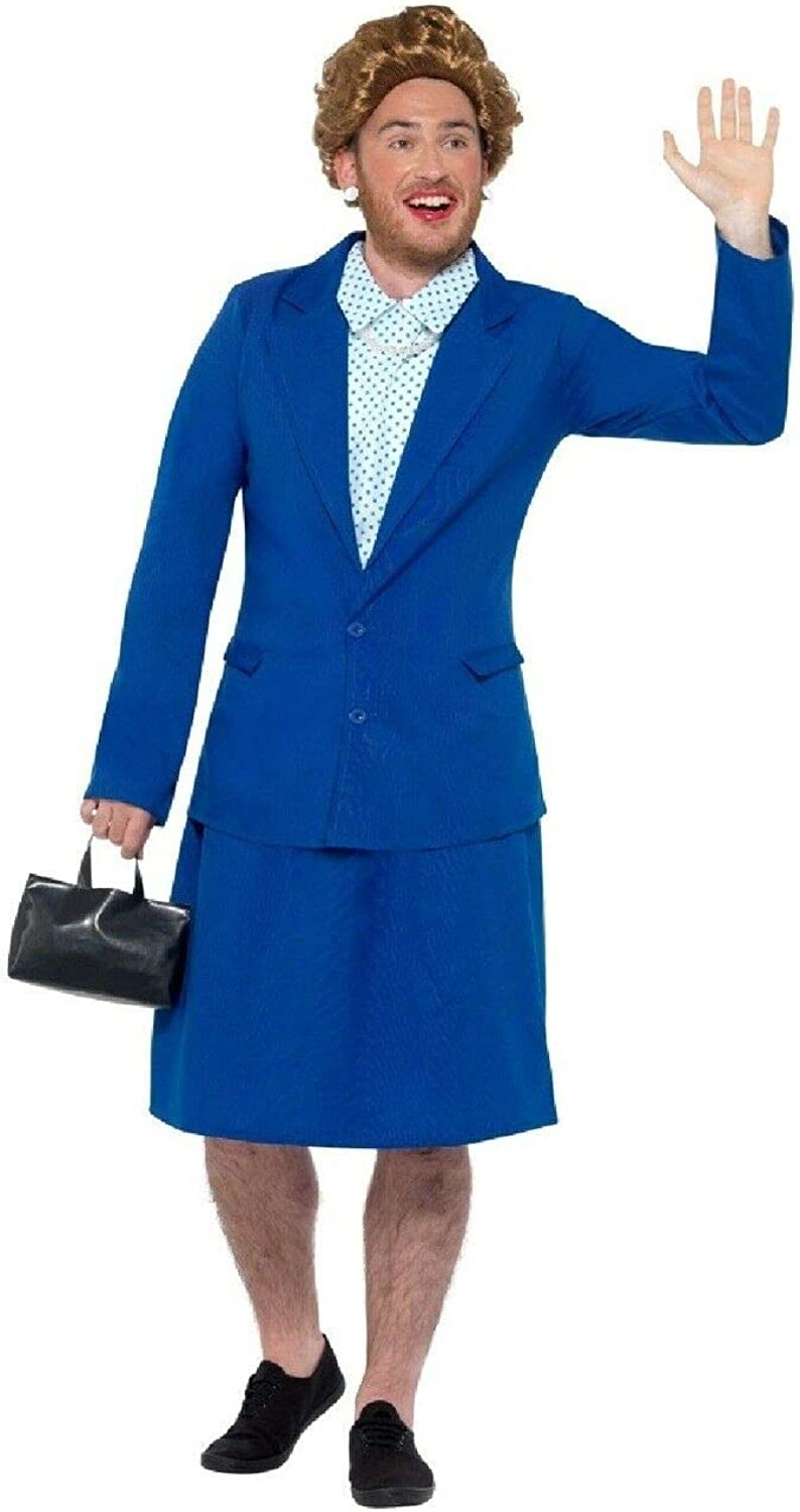 BCreative Mens Political World Leaders Stag Do Night Party Fun Fancy Dress Costume Outfit (Margaret Thatcher Medium)