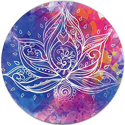 Yoga Lotus Mandala Mouse Pad Colorful Watercolor Flower, Pretty Girly Mouse Pad for Women, Aesthetic Mouse Pad for Kids Girls, Office Mouse Pad, Small Gaming Mouse Pad