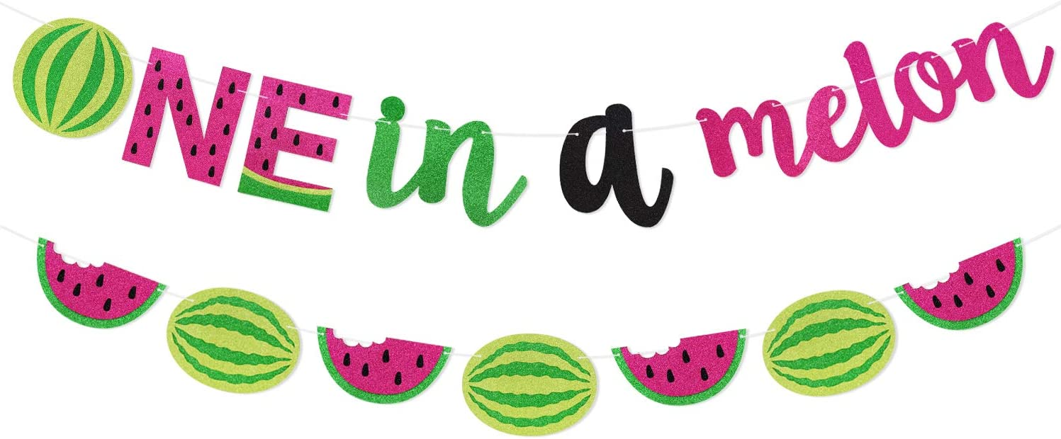 One in Max 69% OFF a At the price Melon Banner Watermelon Supplies Party Birthday 1st Hot
