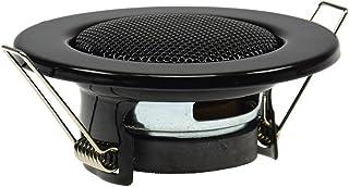 Einbaulautsprecher für Wand & Decke Mini Lautsprecher Front 8cm Einbau 6cm LED Strahler Optik Klammer Monntage Unterputz 12Watt Schwarz