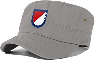 US Army 5th Squadron-73rd Cavalry Regiment Cadet Army Cap Flat Top Sun Cap Military Style Cap