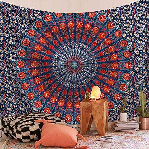 WERT Mandala patrón Tapiz Indio Colgante de Pared decoración Elefante Toalla de Playa Bohemia Manta Fina Estera de Yoga A15 200x150cm