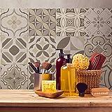 Adesivi per piastrelle bagno e cucina 24 Pz 20x20 cm - PS00139 Made in Italy - Mattonelle autoadesive in PVC impermeabili antigraffio Wall stickers cementine peel and stick