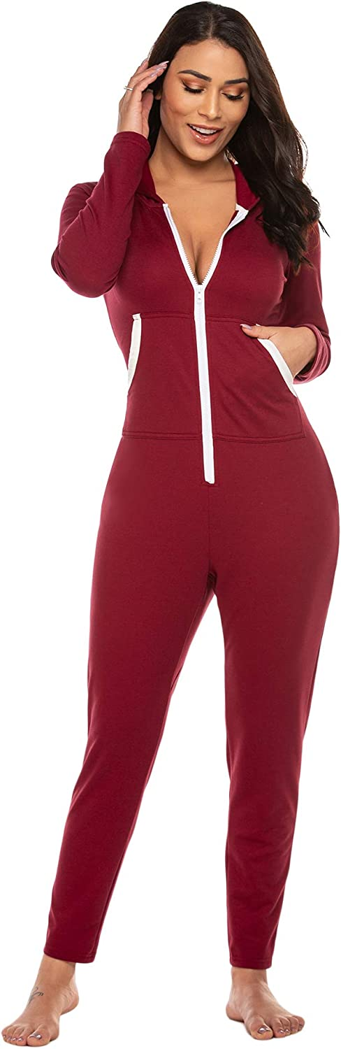 Ekouaer Onesies High quality Zipper Up Union Jumpsuit Piece One Layers H Complete Free Shipping Base
