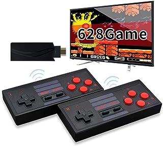 grneric Console de jeu vidéo 4K HDMI intégrée 628 jeux classiques USB Portable Rétro Manette de jeu Mini console rétro san...