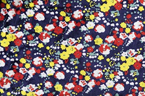アイリスプラザfondan着る毛布ポケット・ベルト付特製BOX入りLサイズ着丈170cm花柄ネイビー静電気防止洗えるフランネルマイクロファイバー部屋着クリスマスギフトルームウェア