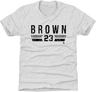 500 LEVEL Dustin Brown Los Angeles Hockey Kids Shirt - Dustin Brown Los Angeles Font