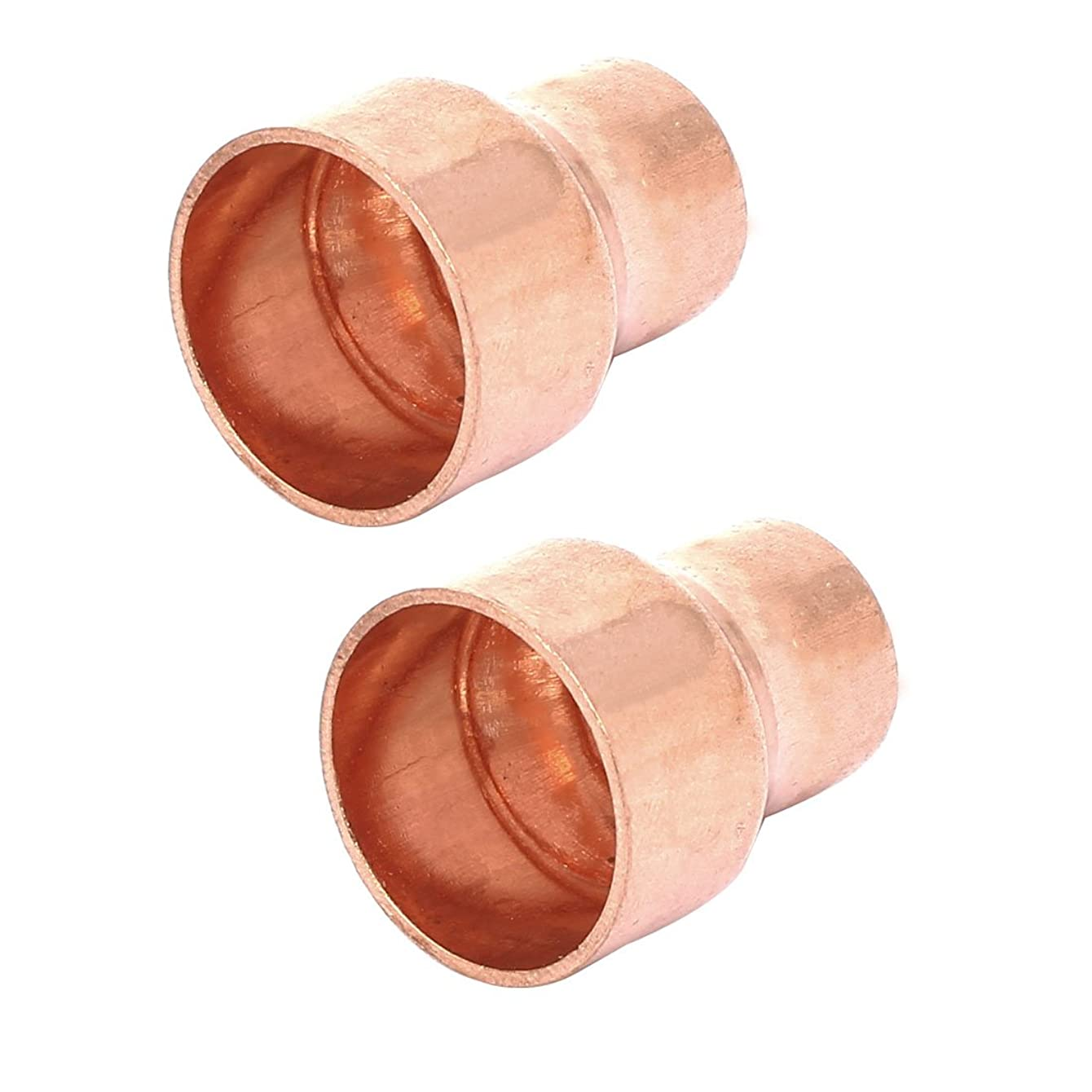 Aexit 19mmx12.7mm Tube Civil Equipment Hardware Accessories Air Conditioner Copper Reducer Straight Fittings 2pcs Model:24as399qo685