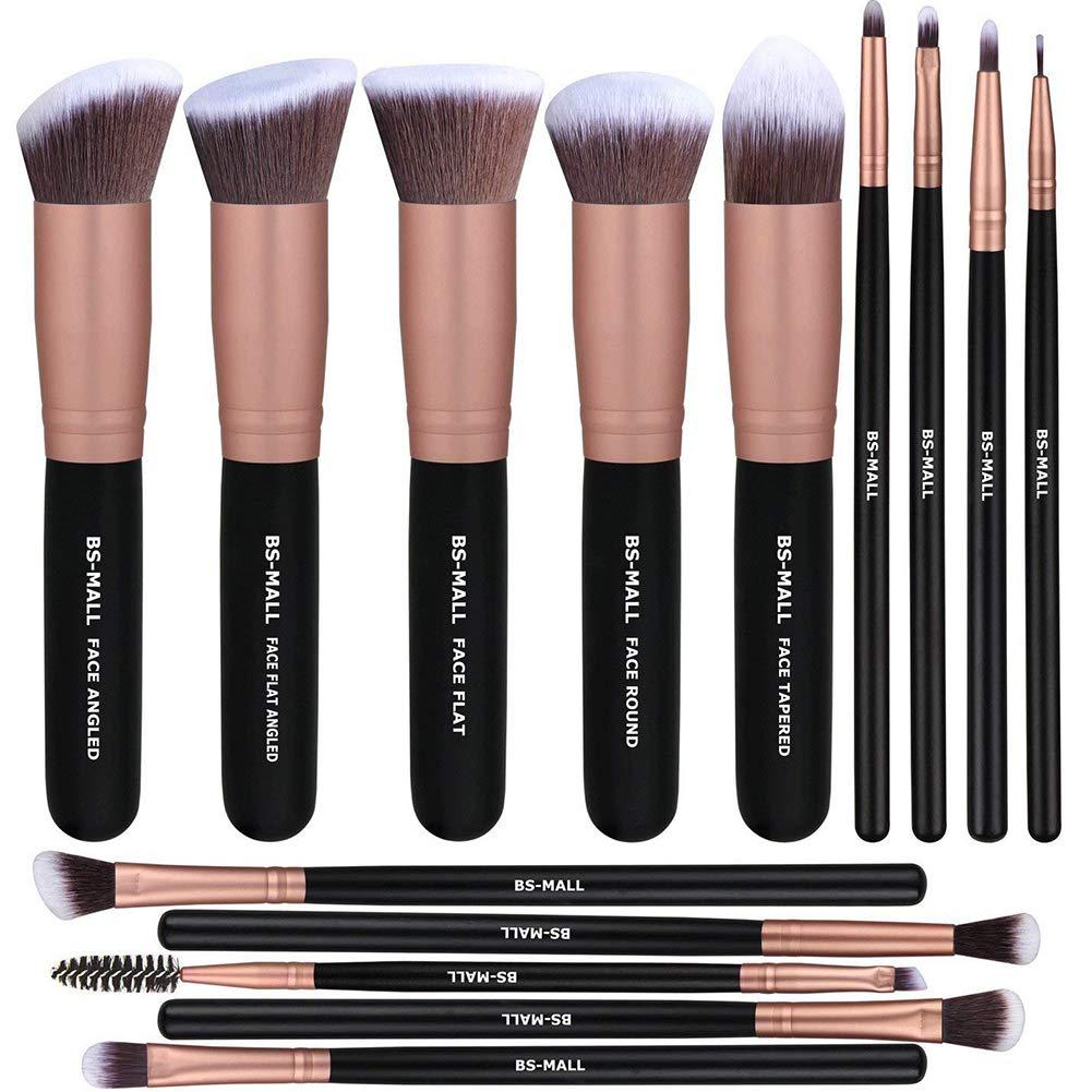 Xiton Makeup Brush 14 Max 63% OFF pieces Set Brushes Dallas Mall Synthetic Kabuki