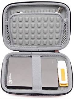 FOOKANN Hard Drive Case Bag, Shockproof Electronic Accessories Organizer Bag For 2.5 Inch Hard Drives, Power Bank, USB Cab...