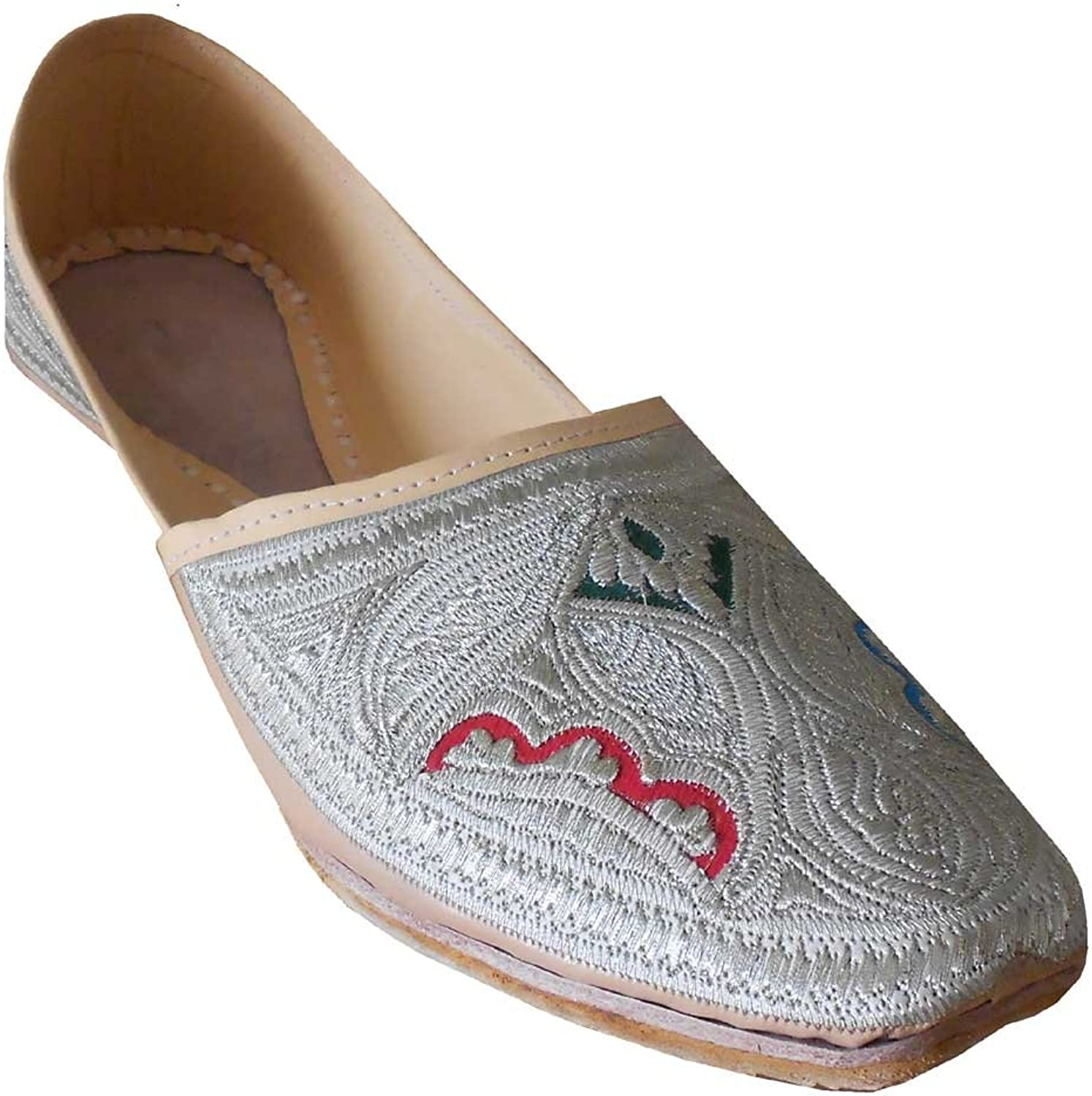 Kalra Creations Men's Traditional Indian Faux Leather with Embroidery Party shoes
