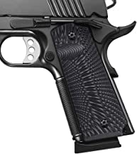 Cool Hand 1911 Full Size G10 Grips, Gun Grips Screws Included, Mag Release, Ambi Safety Cut, Sunburst Texture