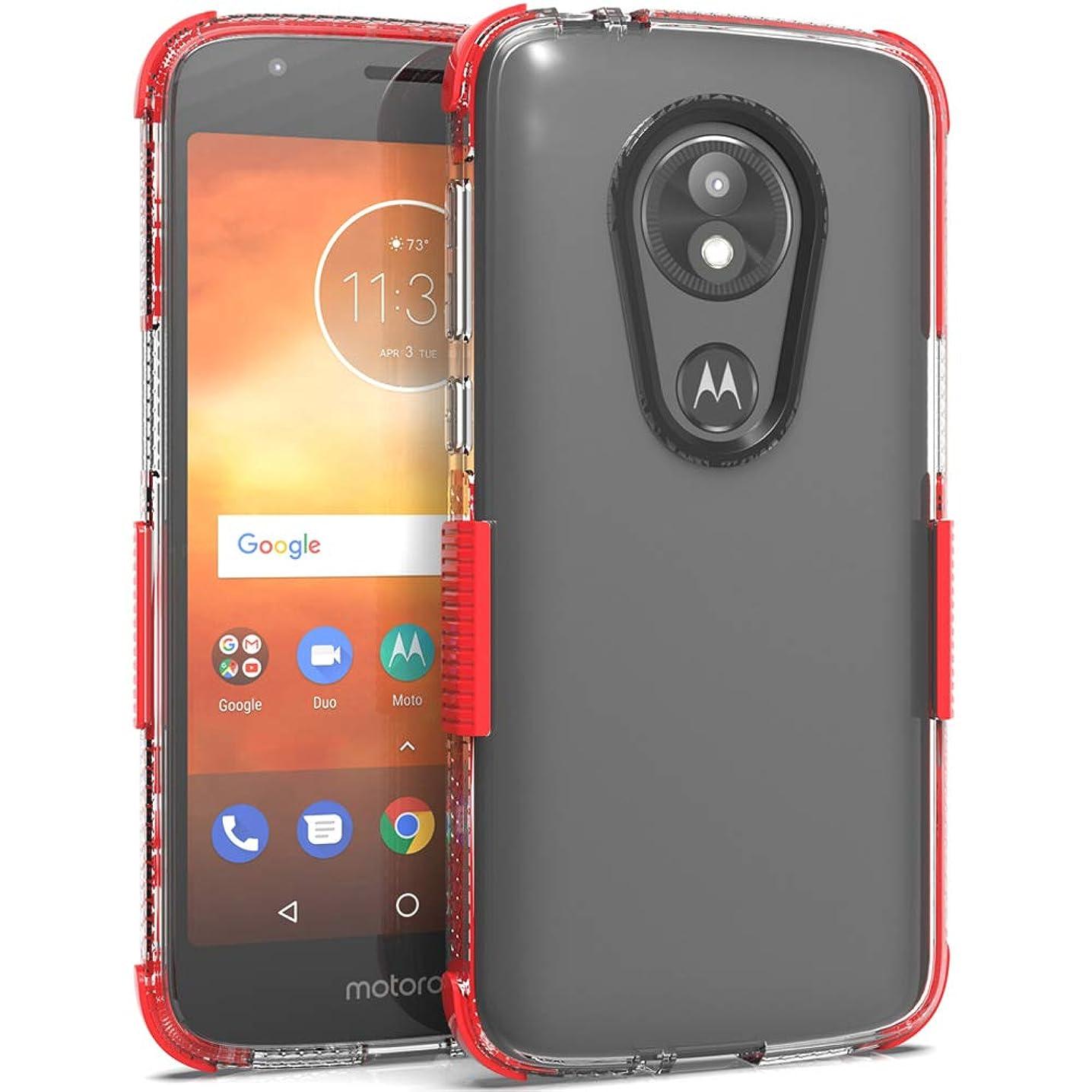 Telegaming for Motorola Moto E5 Play/Moto E5 Cruise Case, Ultra Thin TPU Bumper & Hard Acrylic Back Clear Case Shock Absorption Anti Scratch Protective Cover for Motorola Moto E5 Play Red