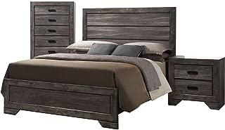 Cambridge Drexel 3PC Queen Bed, Chest, Nightstand, Bedroom Suite, Weather Gray
