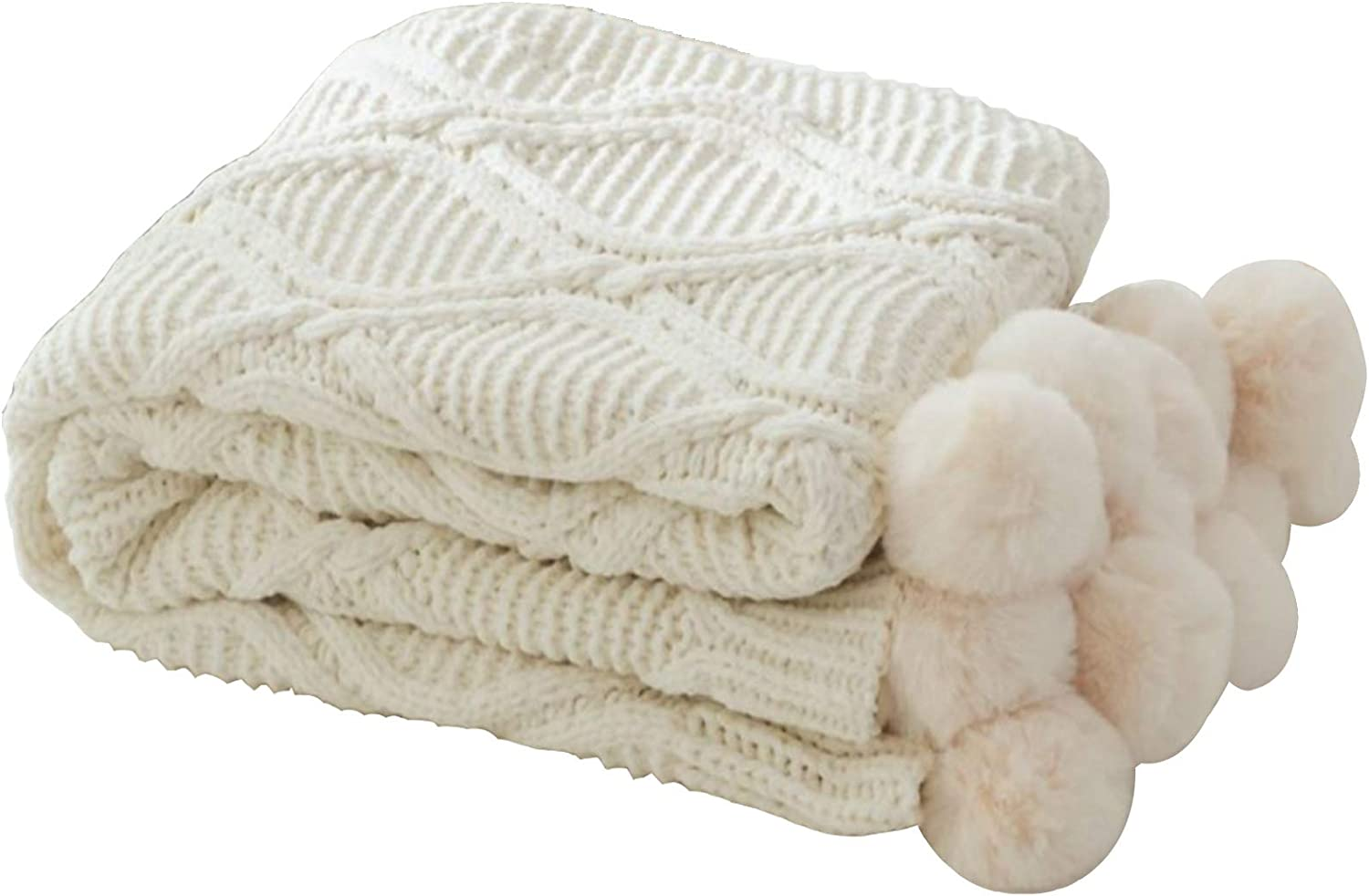 Warooma At the price of surprise Throw Max 77% OFF Blanket Knitted Warm Flu Luxury Cozy